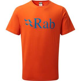 Rab Stance Logo Lyhythihainen T-paita Miehet, firecracker